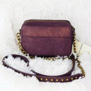 Lucky Women's Purple Dray Leather Crossbody Bag